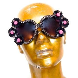 WICKED GARDEN RHINESTONE LOLITA GLASSES NEW